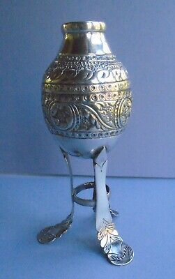 "Vintage 6 1/4"" Tall Yerba Mate Cup - 800 Silver"
