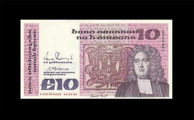 3.3.1988 Central Bank Of Ireland 10 Pounds (( Ef+ ))