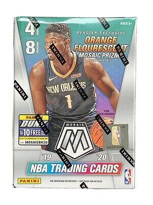 2019-2020 Panini Mosaic NBA Basketball Blaster Box Orange Prizm BRAND NEW Zion!