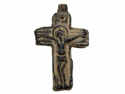 VERY RARE POST BYZANTINE, MEDIEVAL 1400 – 1600s. CROSS MADE FROM PRESSED SKIN+++