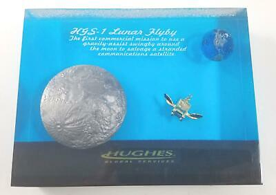 Rare Hughes Space & Communications Employee Plaque HGS-1 Lunar Flyby Mission