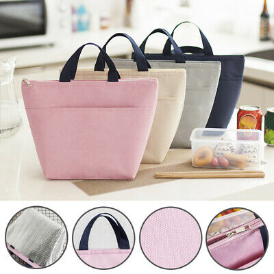 Adults Kids Lunch Bag Insulated Cool Bag Picnic Bag School Lunchbox Work Handbag