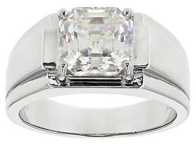 Natural White Topaz Gemstone with 925 Sterling Silver Signet Ring for Men