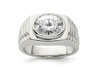 Natural White Topaz Gemstone with 925 Sterling Silver Cluster Ring for Men