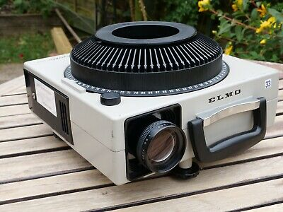ELMO Omnigraphic 252E Carousel Slide Projector, Zoom Lens, and Carousel Tray