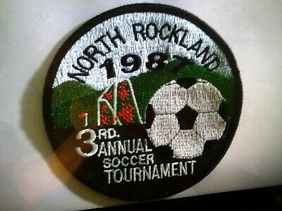 """VINTAGE SOCCER CLUBS USA """"NORTH ROCKLAND 1987 3rd. ANNUAL TOURNAM"""" PATCH EMBLEM"""