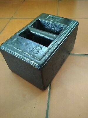 Vintage Rustic Cast Iron 56lb Pound Avery type Weight Door Stop.
