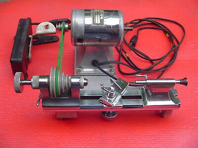 Complete Working Perton Jewelers Watchmakers Lathe with Collets & Accessories
