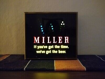 Vintage Miller Lighted Sign