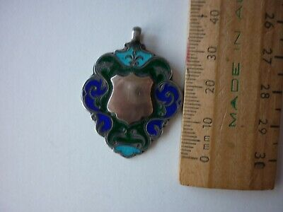 Gold And Sterling Silver Enamelled Fob.