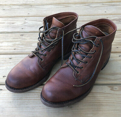 Frye Harness 12R 81325 Mens Brown Leather Casual Dress Lace Up Boots Shoes 11.5