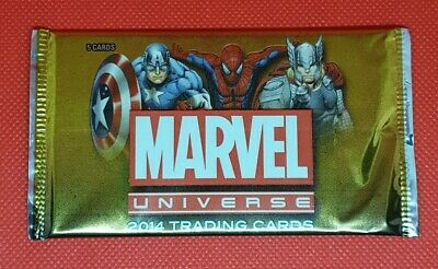 2014 Marvel Universe Sealed Booster Pack - Rittenhouse 5 Holos Inside!