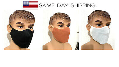 (2 pack) Face Mask Unisex easy to breath  lightweight washable reusable, US