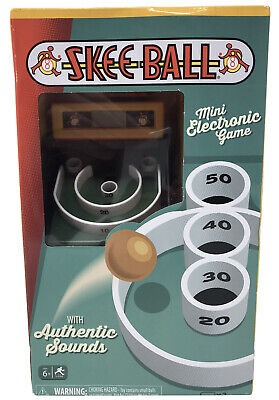 Skee Ball Mini Electronic Game #9612 Hand Held Mini Arcade Style Toy Hot Gift