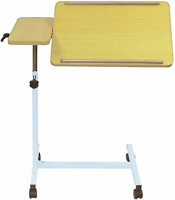 Height Adjustable Overbed Table Castors Ideal for Those Confined Bed Brand New
