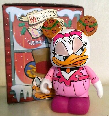 Disney Authentic DAISY DUCK ISABELLE Mickey CHRISTMAS CAROL Cake TOPPER Toy NEW