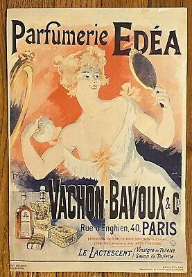 Rare Vintage Parfumerie Edea - Woman in White Dress Poster By Georges Meunier