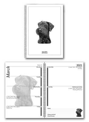 Schnauzer Appointment Diary 2019 A5 Week Per View by Curiosity Crafts
