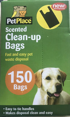 Scented Dog Clean Up Bags 150 Doggy Poo Bags With Handles Pet Waste
