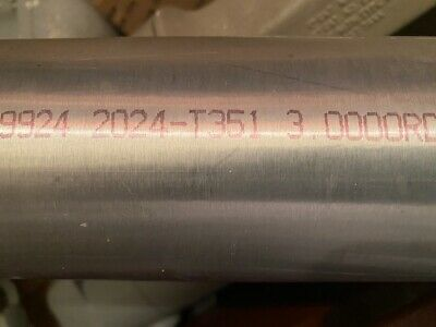 5.250 Online Metal Supply 2024-T351 Aluminum Round Rod x 6 inches 5-1//4 inch