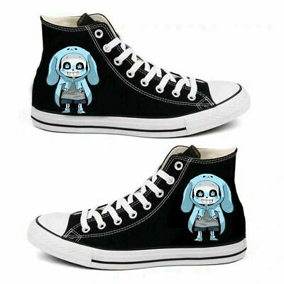 Hot! Anime Undertale sans Cosplay personality High help Casual canvas shoes AA