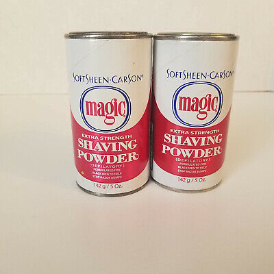 New Lot Of 2 Magic Fragrant Shaving Powder 4 5oz Helps Stop Razor