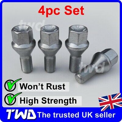 20 X M14X1.5 TAPERED ALLOY WHEEL BOLTS FIT PEUGEOT 806 807