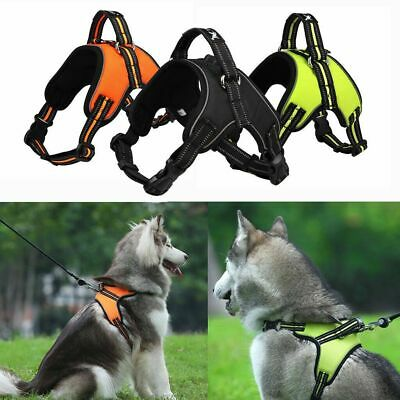 Adjustable No Pull Dog Pet Harness Control Vest Dogs Reflective S M Large XL XXL