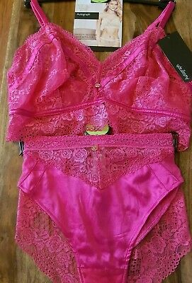Knickers M/&S Rosiefor AutographSpot Mesh /& Lace High Leg Knickers Size 10