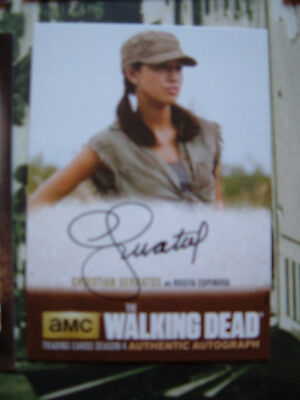 Walking Dead Series 4 Christian Serratos Autograph Card CS1 as Rosita