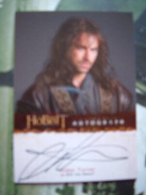 The Hobbit Aidan Turner Autograph Card As Kili (Poldark)