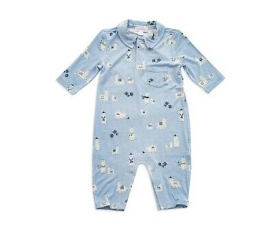 NWT ANGEL DEAR Harvest Animals Romper in Soft Bamboo Blend Size 0-3 Months