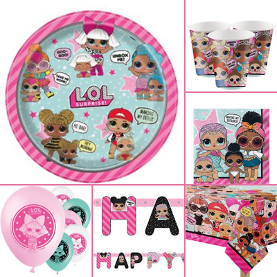 LOL Surprise Birthday Party Tableware Decorations Balloons Variation
