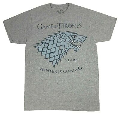 Winter is Coming T Shirt Game of Thrones Merchandise Winterfall House Stark Shirt