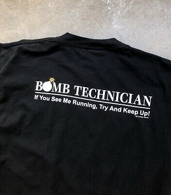 Try to Keep Up T-Shirt If You See Me Running 1Tee Mens Bomb Squad