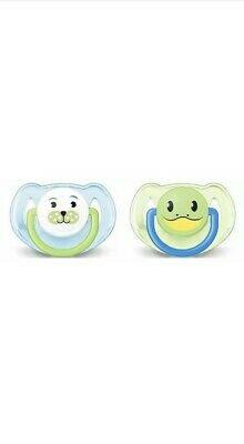 Philips Avent SCF182//33 2-Pack Orthodontic Soother 0-6m Penguin//Duck Design