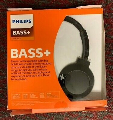 Philips Extra Bass Bluetooth Wireless On Ear Headphones With Microphone 32 11 Picclick
