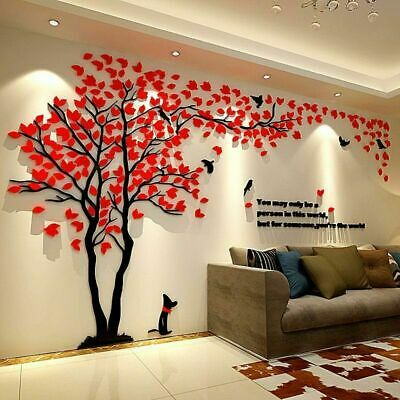 Large Family Tree Wall Decals 3d Diy Acrylic Wall Stickers Mural Home Decor Hot 24 69 Picclick