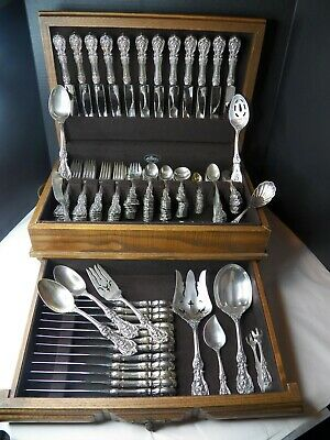Reed & Barton Francis 1St Sterling Silver Flatware Set Om Dinner/Lunch 144Pc