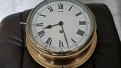 8in dial. .brass Ships Clock. /Coventry /smiths platform movement