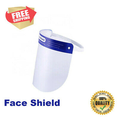 10 Pack PPE Safety Full Face Shield Reusable Anti-Fog Clear Protector Cover