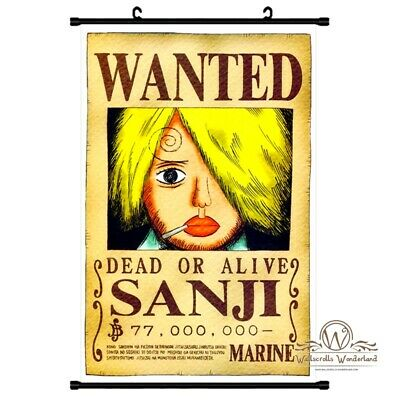 Grosses One Piece Sanji Wanted Poster Wallscroll Anime Manga Deko Bilder 60x90cm 15 51 Picclick Uk