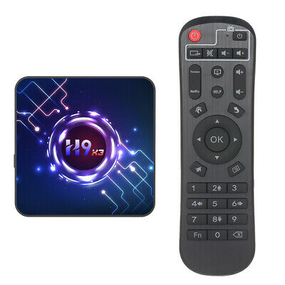 8K H9 Smart Android 9.0 TV Box S905X3 Quad Core 4Go/64Go WiFi Multimédia B6C5