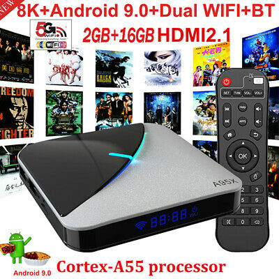 8K A95X F3 AIR Android 9.0 TV Box 75fps S905X3 2Go/16Go WiFi HD Multimédia M6A9
