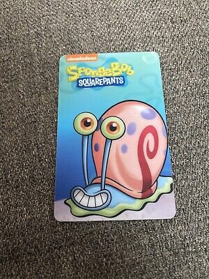 Rare Dave and Busters Spongebob Squarepants Arcade Coin Pusher Card Gary