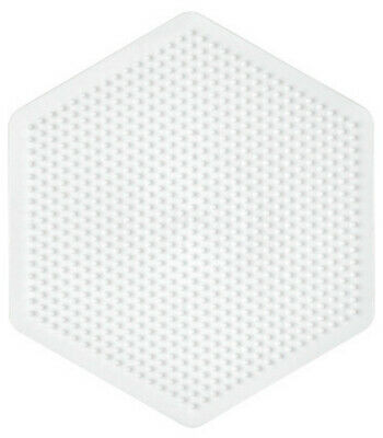 Small Transparent Hexagonal Peg Board for Hama Midi Beads 223tr