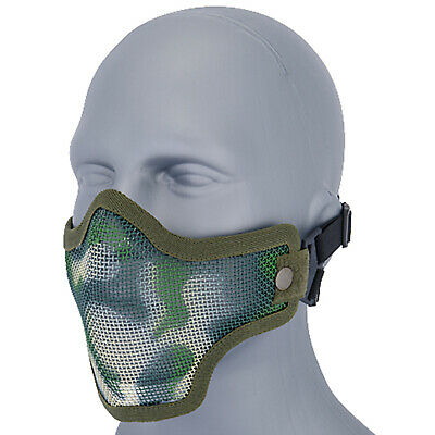 Lancer Tactical Metal Mesh Half Face Protective Airsoft Paintball Mask - Jungle