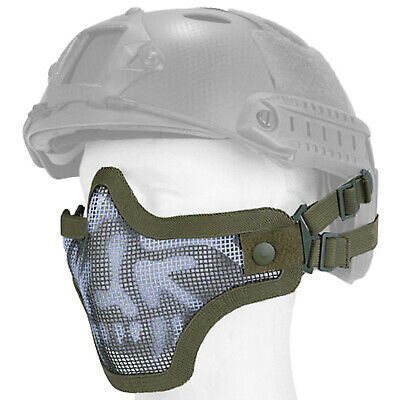 Lancer Tactical Helmet Mesh Protective Airsoft Paintball Face Mask - OD Skull