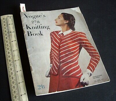 Early 1950s Vintage Vogue's 27th Knitting Book 2/6d. Outstanding Content (856)