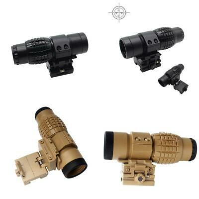 3x Magnifier Tactical Optic Sight Rifle Scope Hunting Magnification Telescope Fs